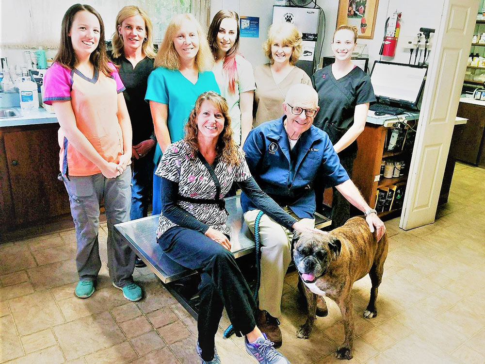 Dr. Mark Stair and Veterinary Team